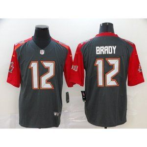 Youth Tampa Bay Buccaneers Tom Brady Gray Jersey